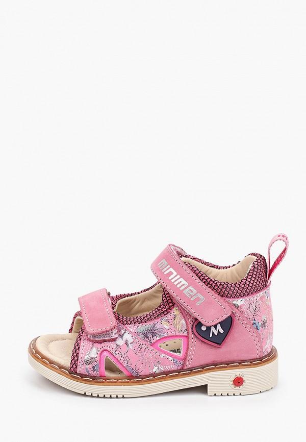 сандалии minimen для девочки, розовые