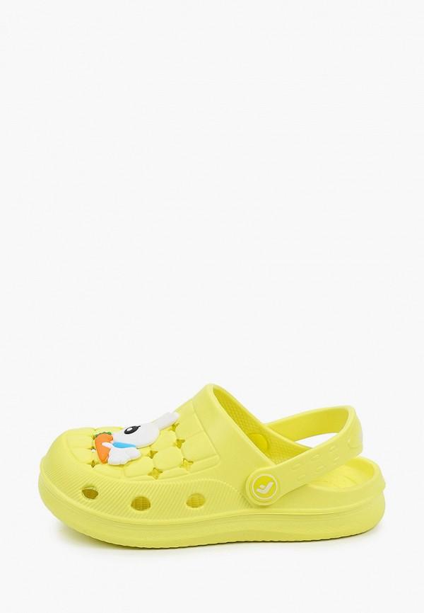 сабо flamingo для девочки, желтое