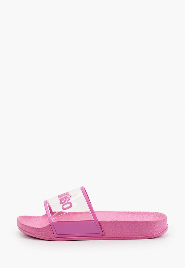 сланцы flamingo для девочки, розовые