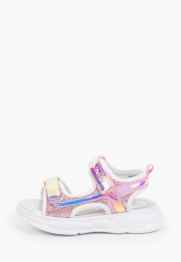 сандалии qwest для девочки, розовые