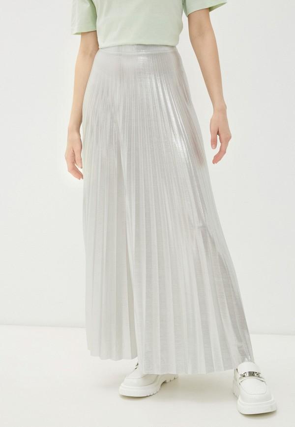 женская плиссированные юбка imperial, серебряная