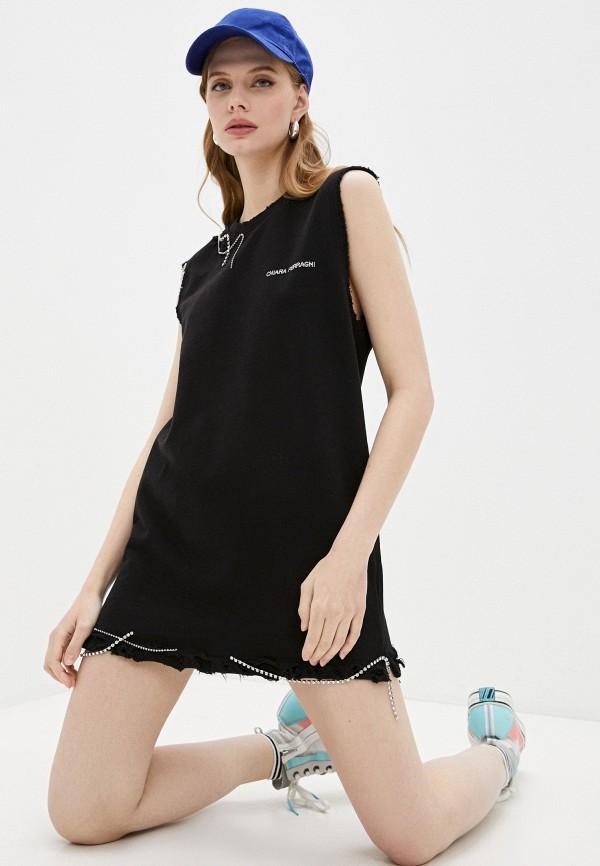 женское повседневные платье chiara ferragni, черное