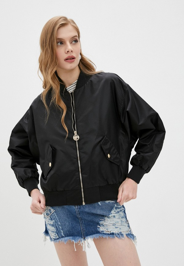 женская куртка chiara ferragni, черная