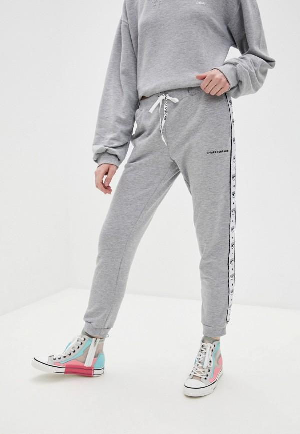 женские спортивные брюки chiara ferragni, серые