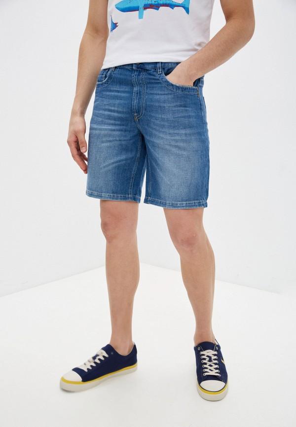 мужские джинсовые шорты bikkembergs, синие