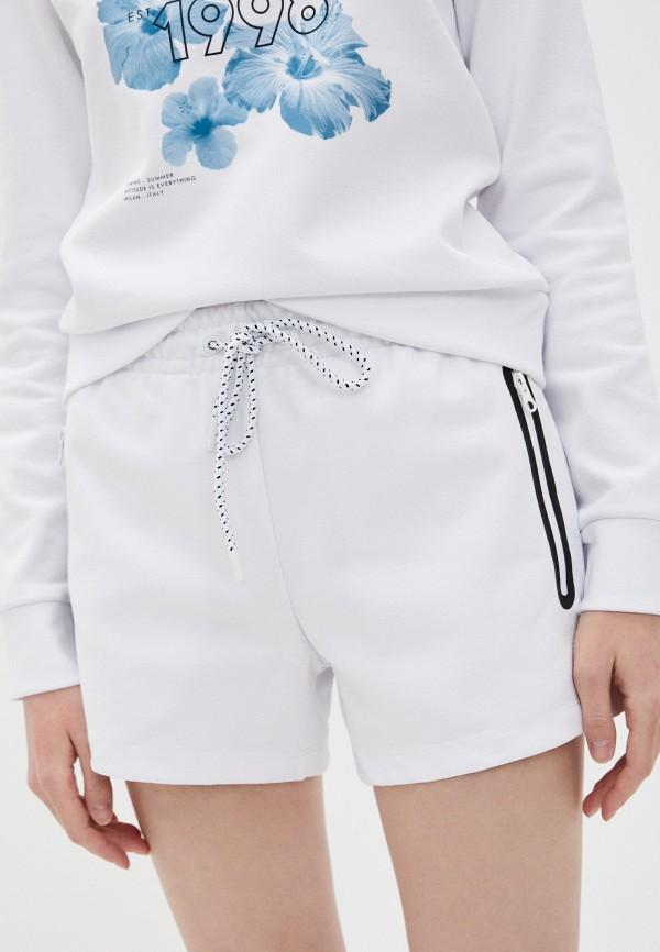 женские спортивные шорты bikkembergs, белые