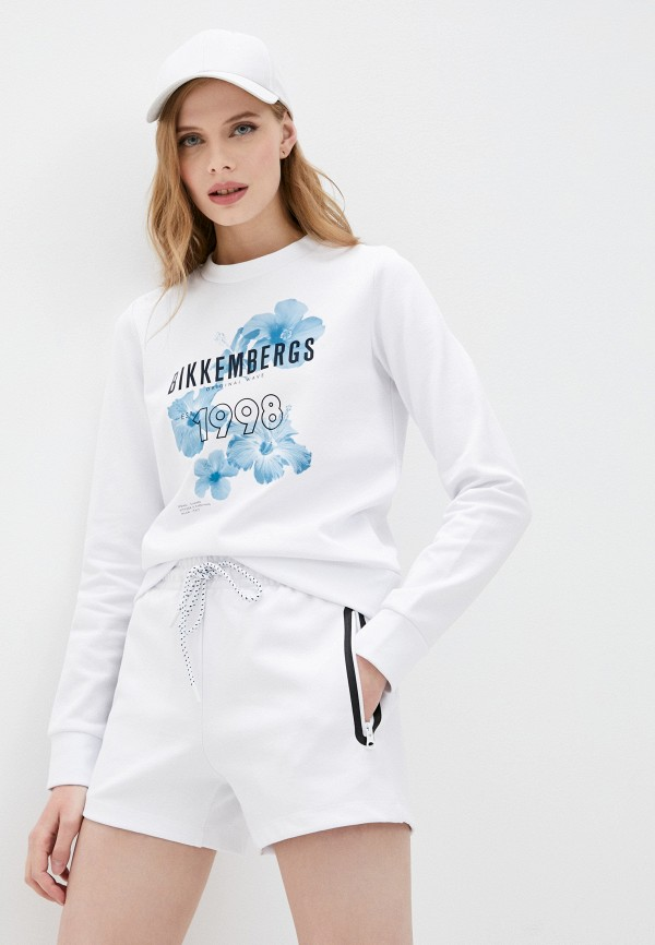 женский свитшот bikkembergs, белый