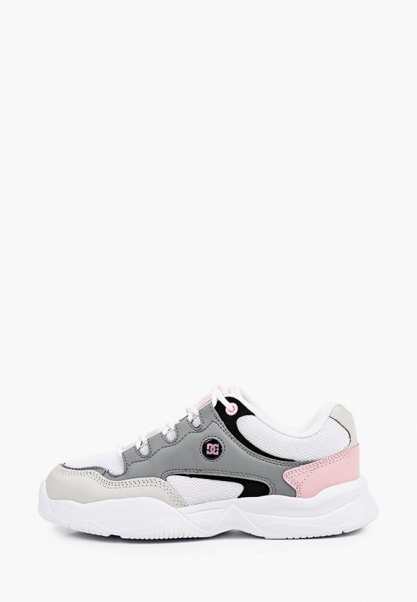 женские низкие кроссовки dc shoes, серые