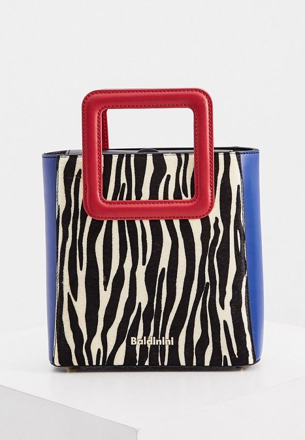 женская сумка с ручками baldinini, разноцветная