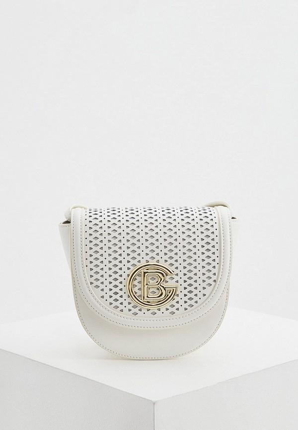 женская сумка через плечо baldinini, белая
