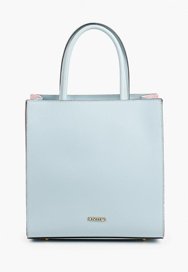 женская сумка с ручками bosccolo, голубая