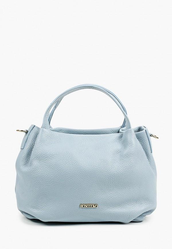 женская сумка bosccolo, голубая