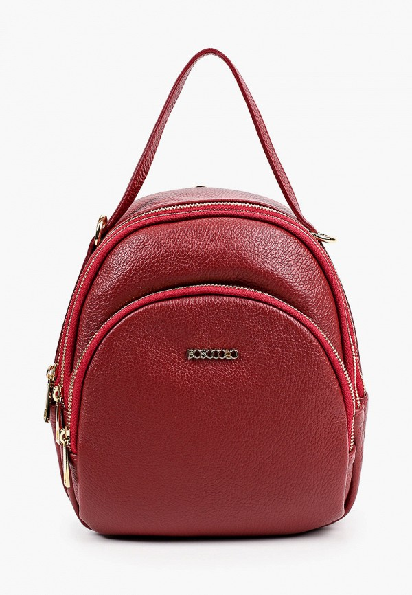 женский рюкзак bosccolo, бордовый