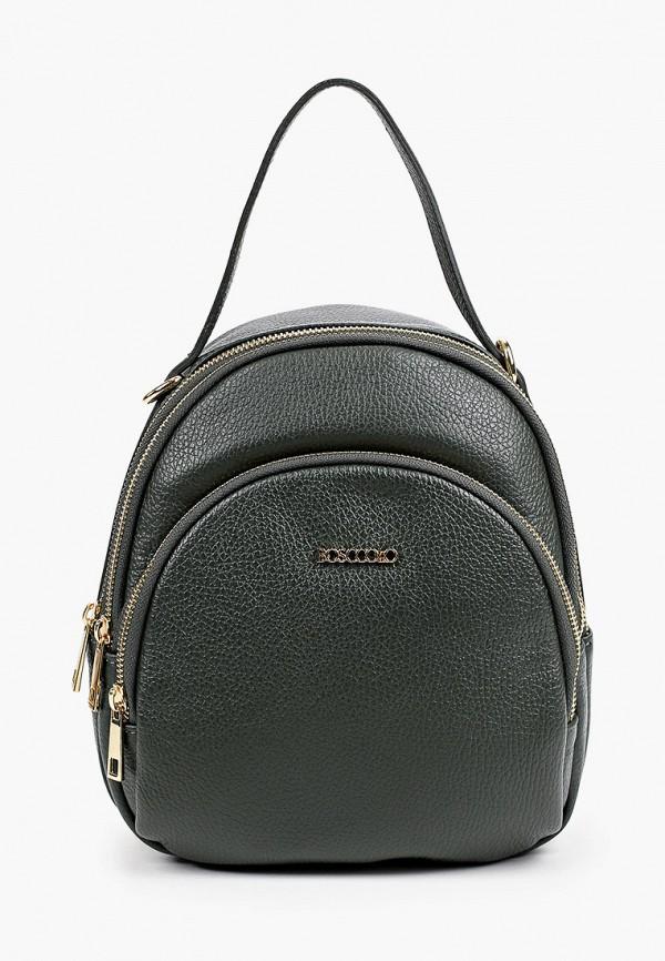 женский рюкзак bosccolo, зеленый