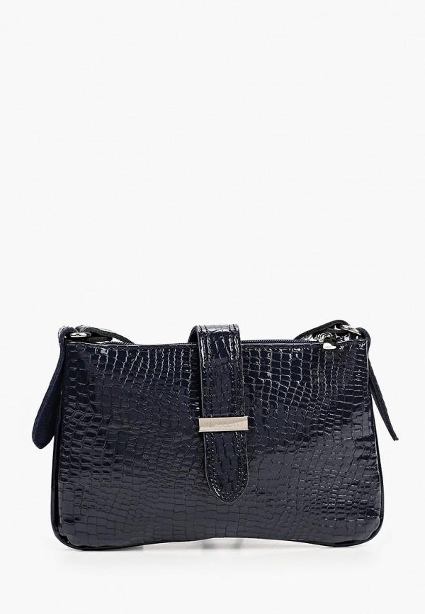 женская сумка через плечо bosccolo, синяя