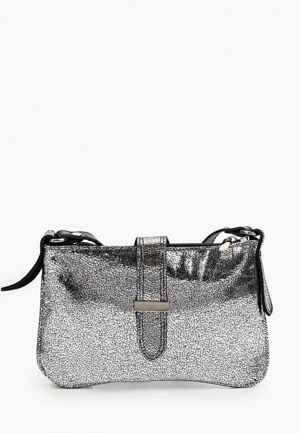 женская сумка через плечо bosccolo, серебряная