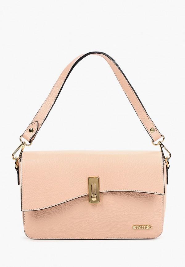 женская сумка с ручками bosccolo, розовая