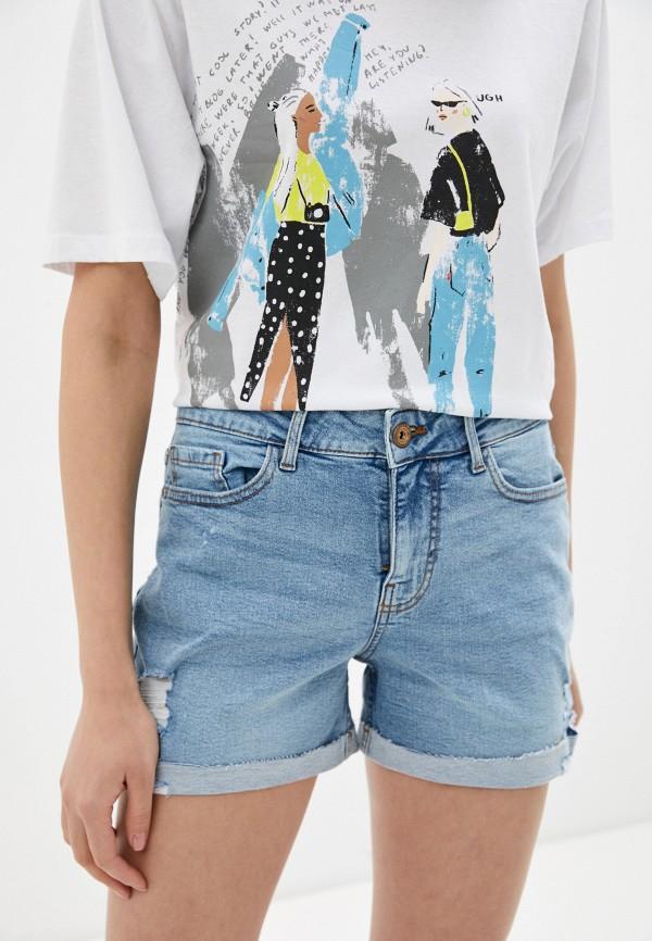 женские джинсовые шорты pieces, голубые