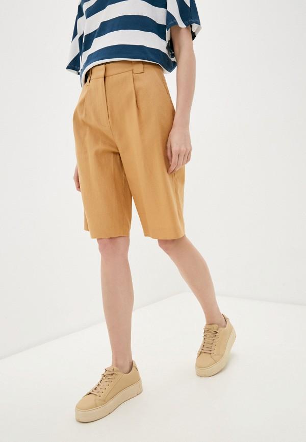 женские повседневные шорты y.a.s, коричневые