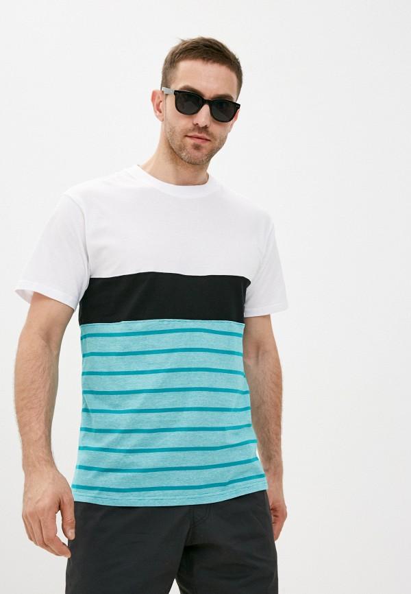 мужская футболка с коротким рукавом dc shoes, бирюзовая