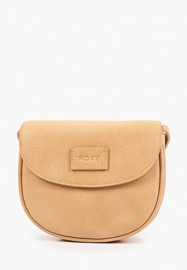 женская сумка через плечо roxy, бежевая