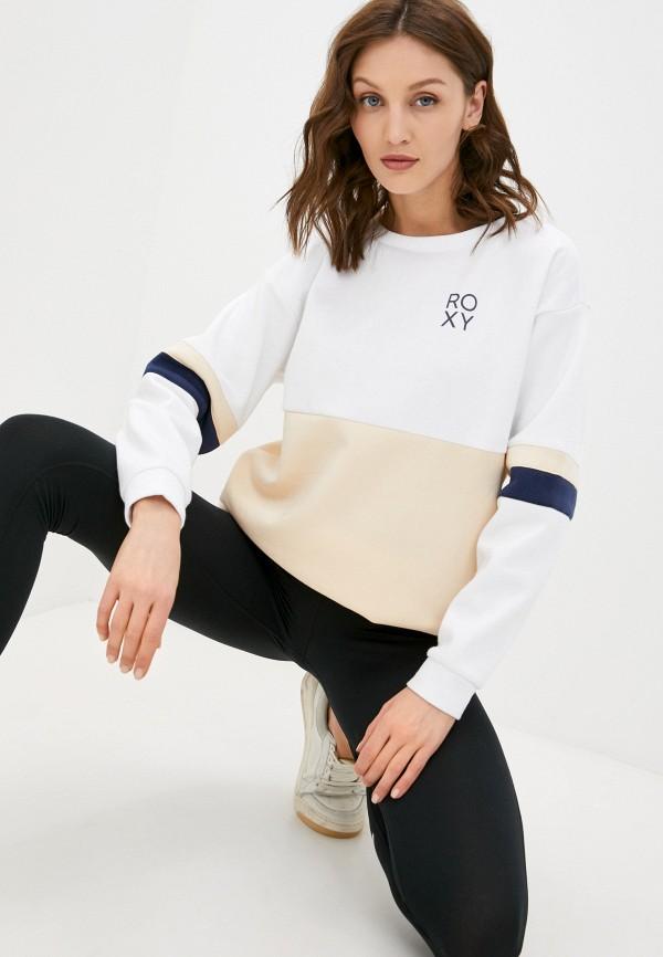 женский спортивные свитшот roxy, бежевый