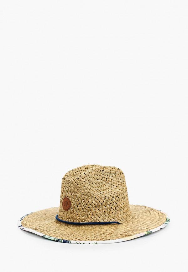женская шляпа roxy, бежевая