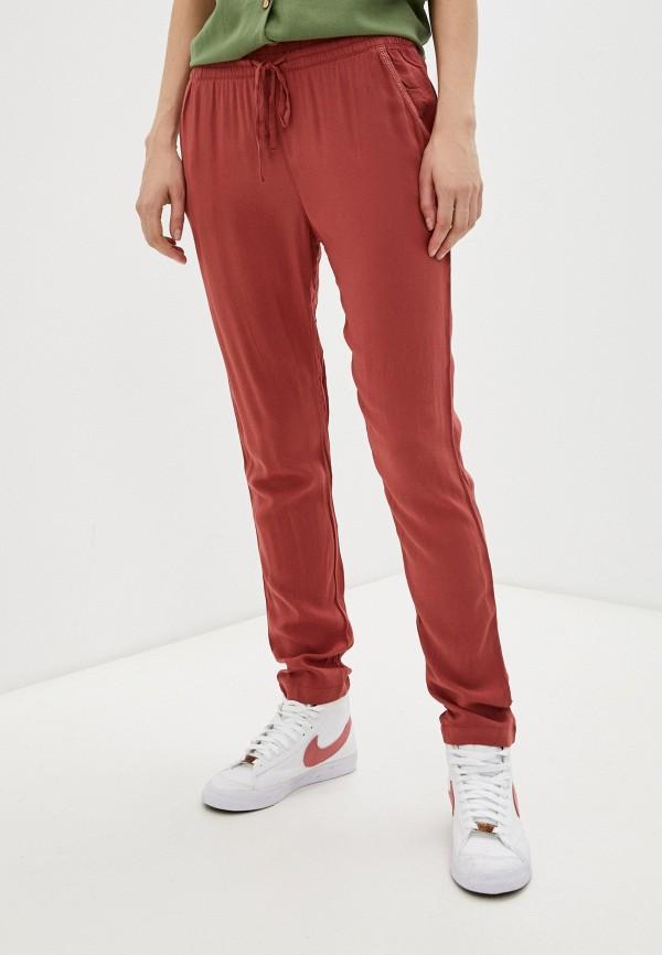 женские брюки джоггеры roxy, бордовые