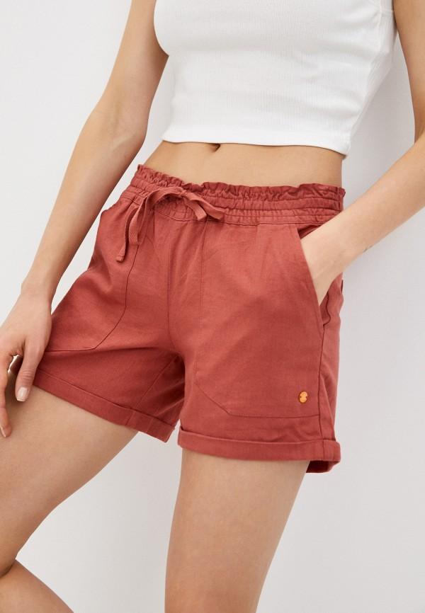женские повседневные шорты roxy, красные