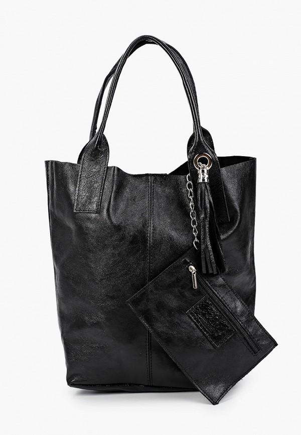 женский кошелёк с ручками roberto buono, черный