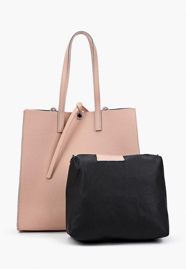 женская сумка с ручками roberto buono, разноцветная