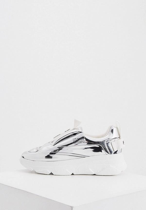 женские низкие кроссовки f_wd, серебряные