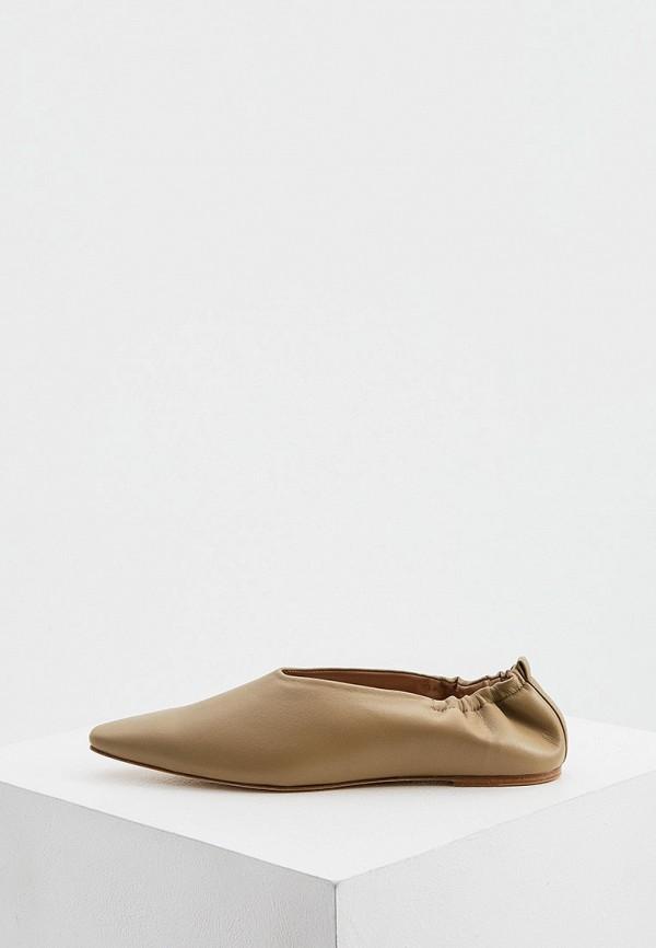 женские балетки joseph, бежевые