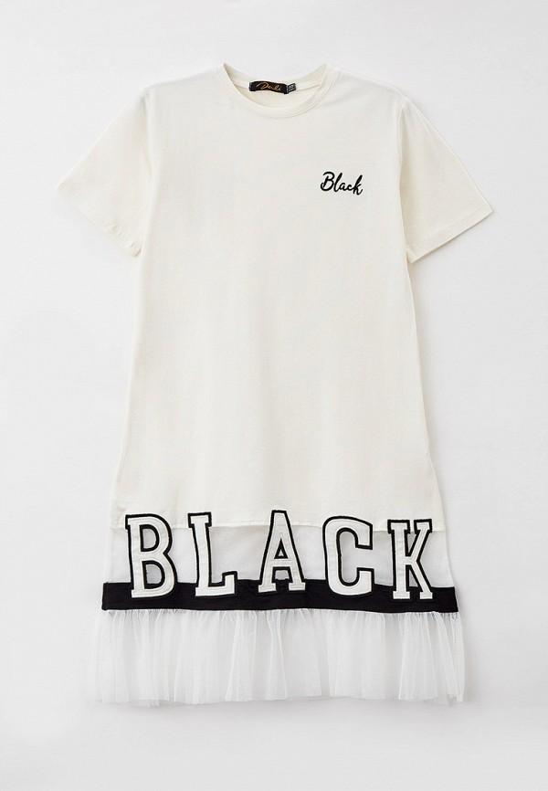 повседневные платье dali для девочки, белое
