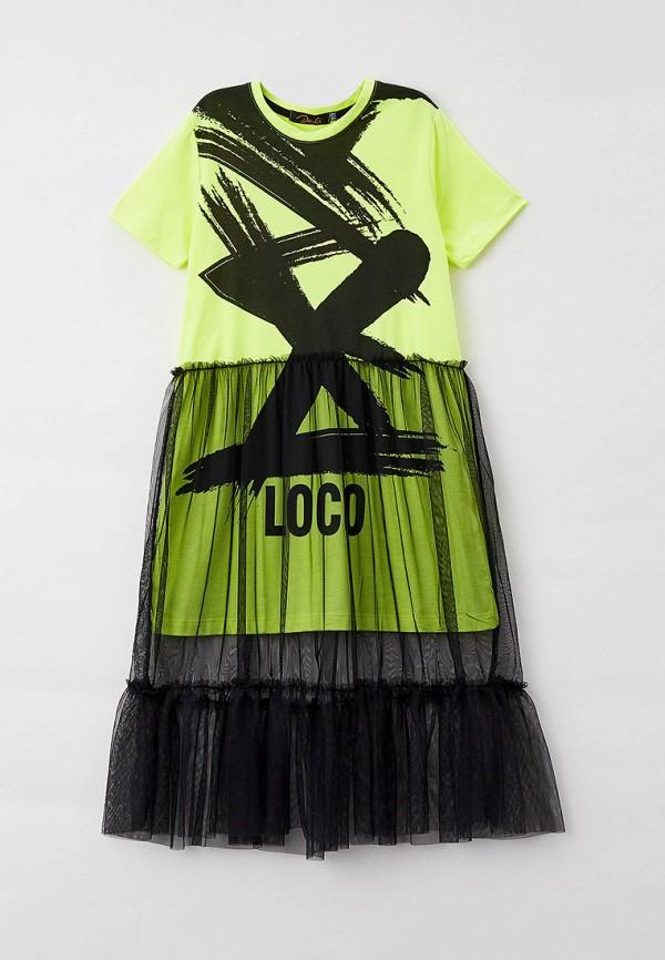 повседневные платье dali для девочки, зеленое