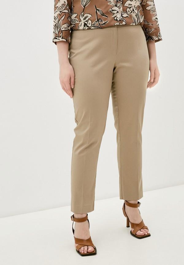 женские классические брюки persona by marina rinaldi, бежевые
