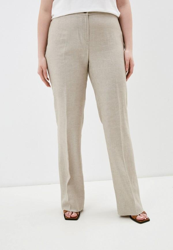 женские повседневные брюки persona by marina rinaldi, бежевые