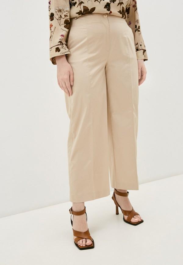 женские повседневные брюки marina rinaldi voyage, бежевые