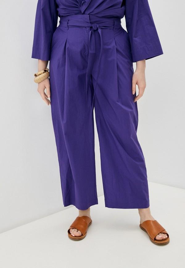 женские брюки клеш marina rinaldi voyage, фиолетовые