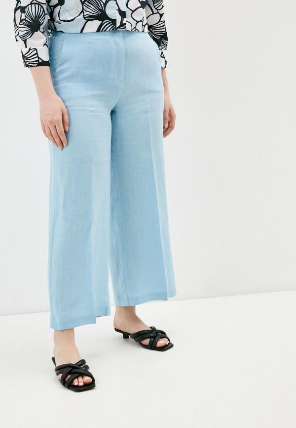 женские повседневные брюки marina rinaldi voyage, голубые