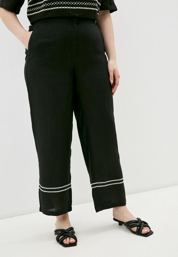 женские повседневные брюки marina rinaldi voyage, черные