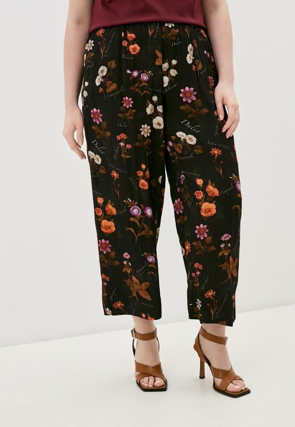 женские брюки джоггеры marina rinaldi sport, черные