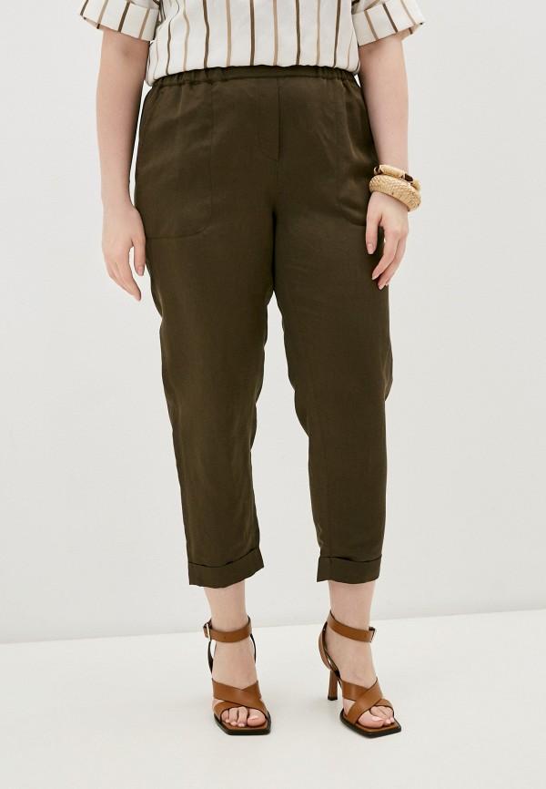 женские брюки джоггеры marina rinaldi sport, хаки