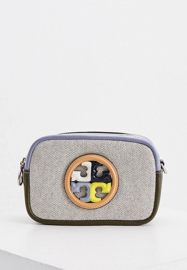 женская сумка через плечо tory burch, разноцветная