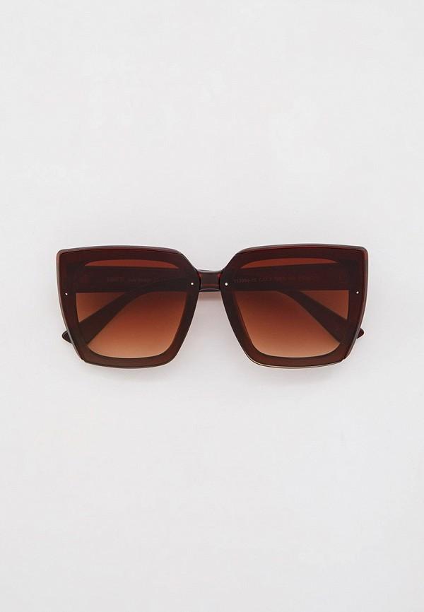 женские солнцезащитные очки fabretti, коричневые