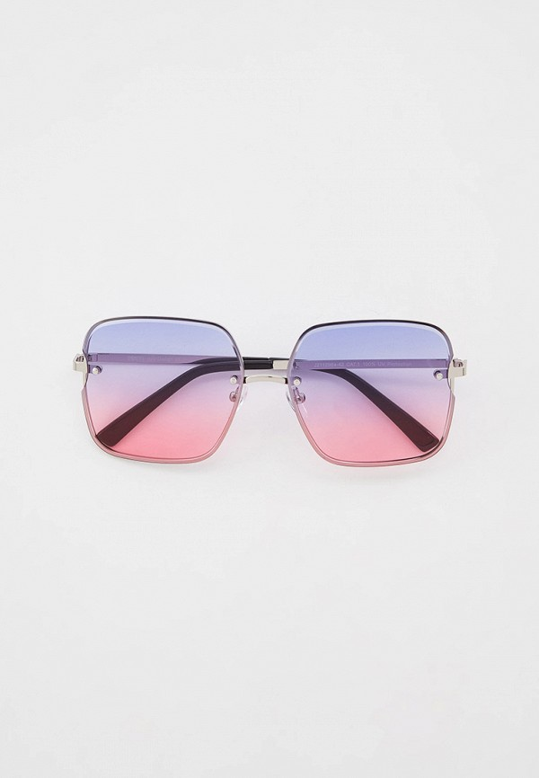 женские квадратные солнцезащитные очки fabretti, серебряные