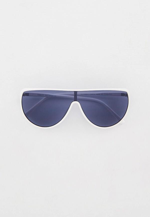 женские авиаторы солнцезащитные очки fabretti, белые