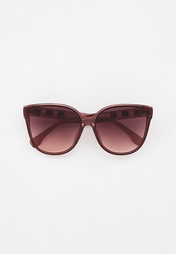 женские солнцезащитные очки кошачьи глаза fabretti, розовые