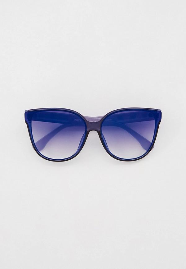 женские солнцезащитные очки кошачьи глаза fabretti, синие