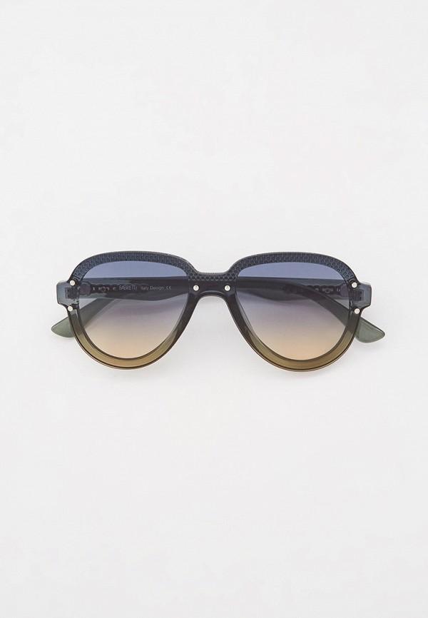 женские солнцезащитные очки fabretti, зеленые